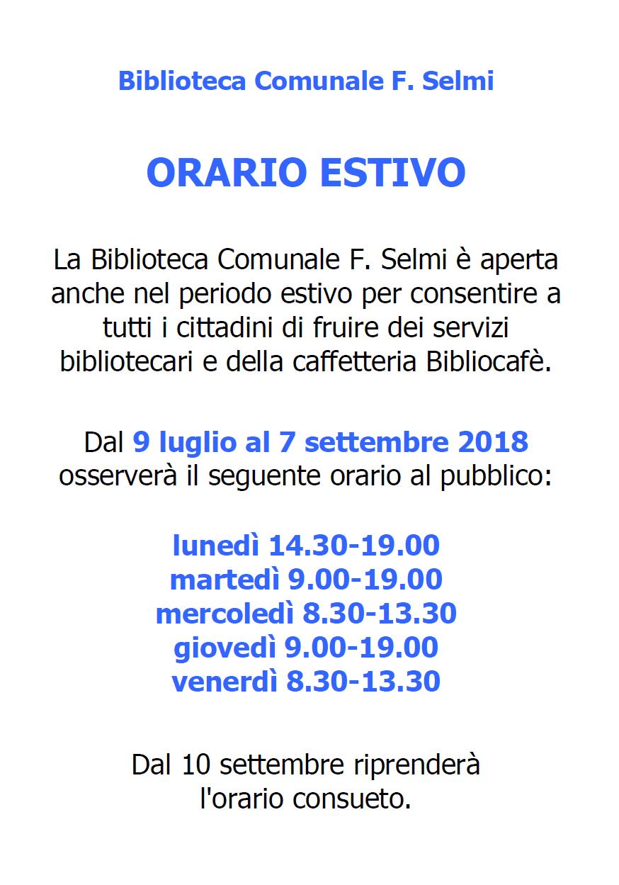 orario estivo 2018_biblio