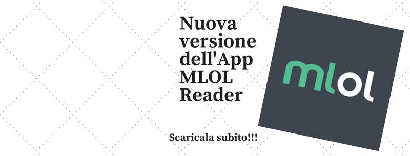 Nuova versione dell'App MLOL Reader