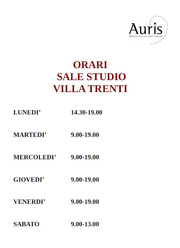 orari Villa Trenti