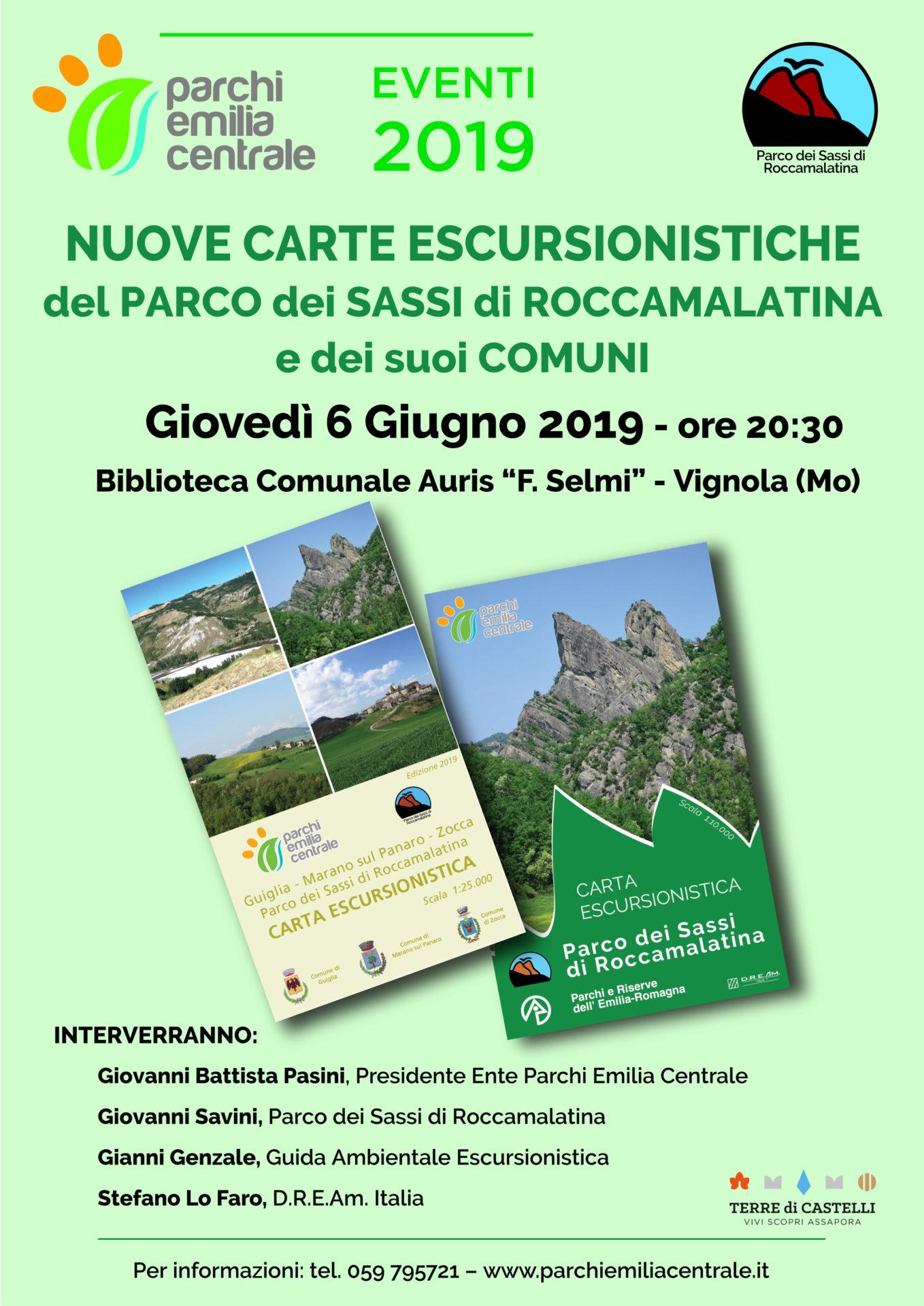 Locandina Carte Escursionistiche Vignola 06.06.19