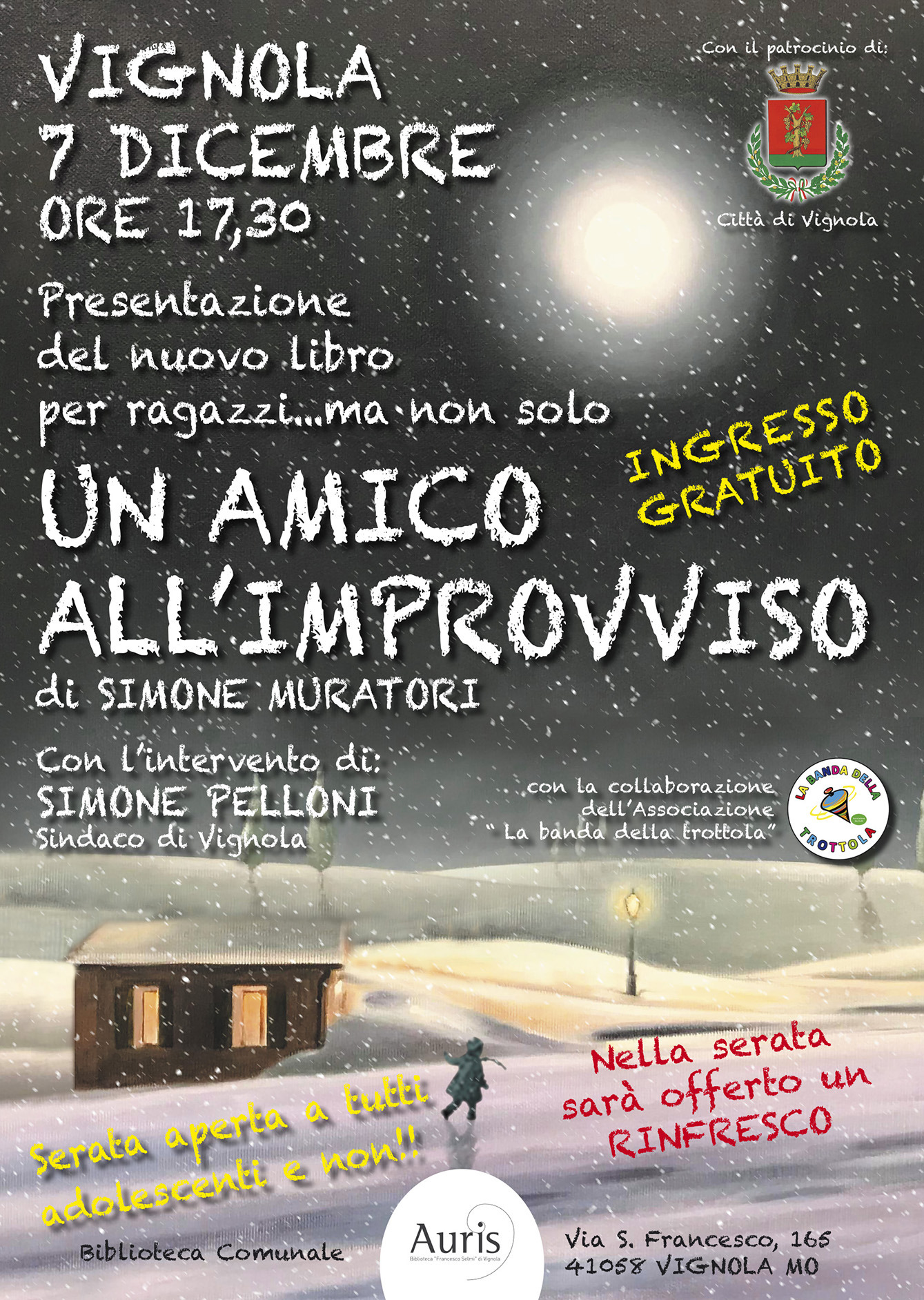 LOCANDINE AMICO IMPROVVISO AURIS Vignola